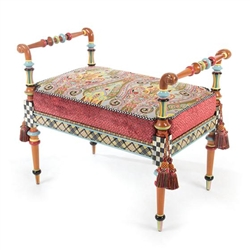 MacKenzie-Childs Musette Bench - 2'