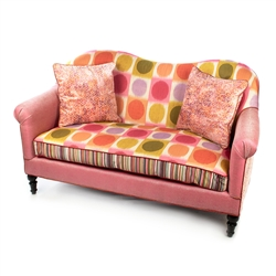 Mackenzie-Childs Super Pink Loveseat