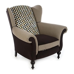 Mackenzie-Childs Underpinnings Studio Wing Chair - Black