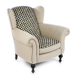 Mackenzie-Childs Underpinnings Studio Wing Chair - Flax