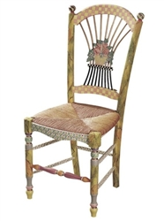 MacKenzie-Childs Light Flower Basket Side Chair