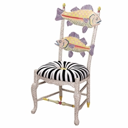 Mackenzie-Childs Freckled Fish Chair Black & White