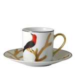 Bernardaud Aux Oiseaux After Dinner Cup and Saucer Set