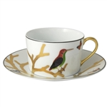 Bernardaud Aux Oiseaux Breakfast Cup & Saucer Set Of 2