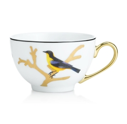 Bernardaud Aux Oiseaux Tea Cup and Saucer Set