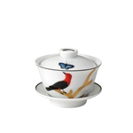 Bernardaud Aux Oiseaux Small Covered Cup & Saucer