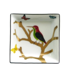 Bernardaud Aux Oiseaux Square Ashtray