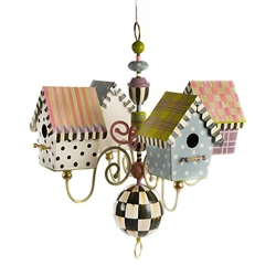 MacKenzie-Childs Birdhouse Iron Chandelier
