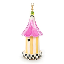MacKenzie-Childs Morning Glory Iron Birdhouse