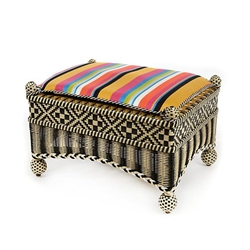 MacKenzie-Childs Courtyard Outdoor Ottoman - Bathing Hut