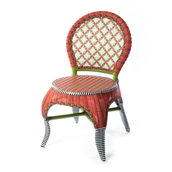 Mackenzie-Childs Breezy Poppy Outdoor Cafe Chair