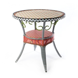 Mackenzie-Childs Breezy Poppy Outdoor Cafe Table