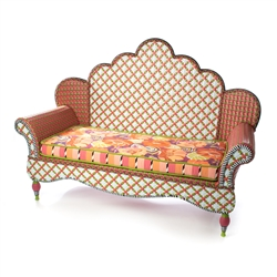 Mackenzie-Childs Breezy Poppy Outdoor Loveseat