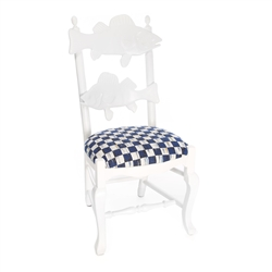 Mackenzie-Childs Outdoor Fish Chair - Royal Check