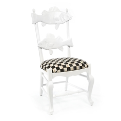 Mackenzie-Childs Outdoor Fish Chair - Courtly Check