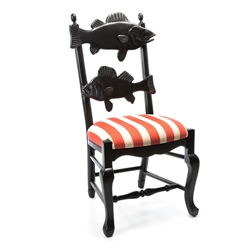 Mackenzie-Childs Outdoor Fish Chair - Cabana Stripe