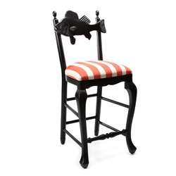 Mackenzie-Childs Outdoor Fish Bar Stool - Cabana stripe