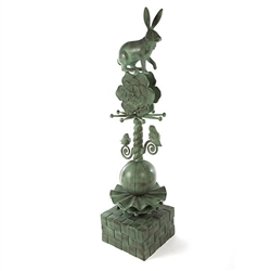 MacKenzie-Childs Rabbit Garden Totem