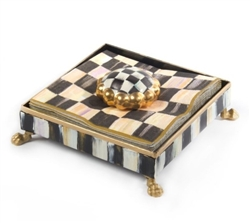 MacKenzie-Childs Courtly Check Napkin Holder Set Cocktail