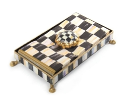 MacKenzie-Childs Courtly Check Napkin Holder Set Hostess