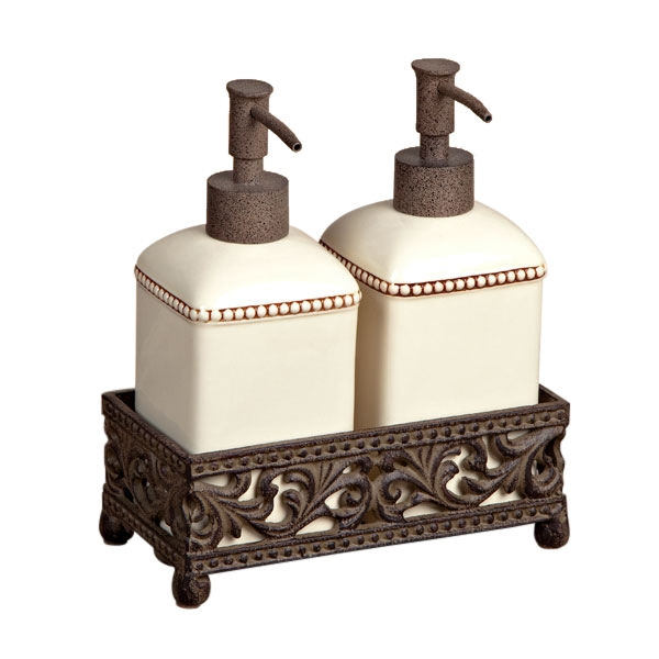 The GG Collection Barcelona Set Of Two Soap Dispensers - Bathroom soap and lotion dispenser set