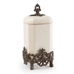 The GG Collection Provencial Cream Canister, Large 16""