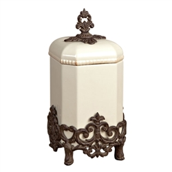 The GG Collection Provencial Cream Canister, Medium