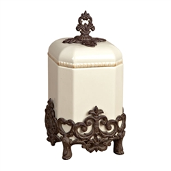 "The GG Collection Provencial Cream Canister, Small 14""H"