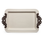 The GG Collection Rectangular Tray With Handles
