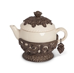 The GG Collection Teapot With Metal Holder and Charm