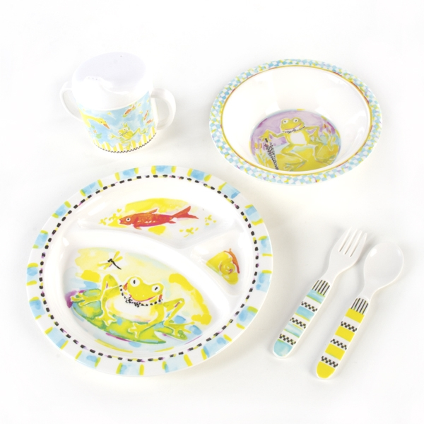 MacKenzie-Childs Frog Toddler Dinnerware Boxed Set  sc 1 st  Chelsea Gifts : mackenzie dinnerware - pezcame.com