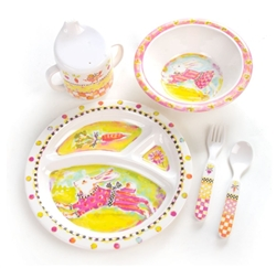 MacKenzie-Childs Toddler's Dinnerware Set - Bunny