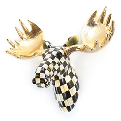 MacKenzie-Childs Courtly Check Small Moose Head