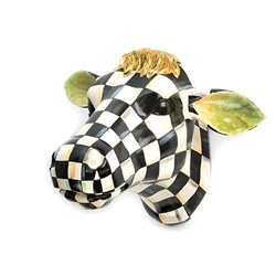 MacKenzie-Childs Courtly Check Small Cow Head