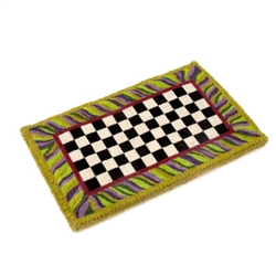 MacKenzie Childs Single Courtly Check Entrance Mat