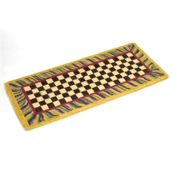 MacKenzie-Childs Courtly Check Double Door Entrance Mat