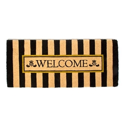 MacKenzie-Childs Awning Stripe Double Door Welcome Mat