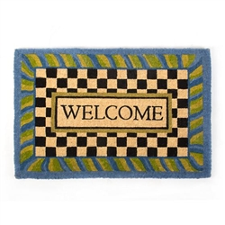 MacKenzie-Childs Periwinkle Welcome Mat