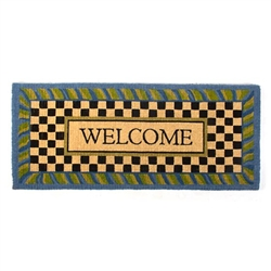 MacKenzie-Childs Periwinkle Double Door Welcome Mat