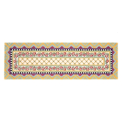 "Mackenzie-Childs Hitchcock Field Rug - 2'6"" x 8' runner"