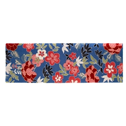 "Mackenzie-Childs Bluetopia Rug - 2'6"" x 8' runner"