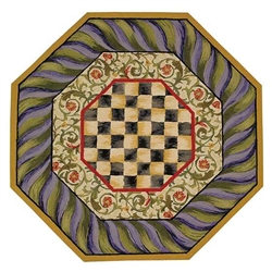 Mackenzie-Childs Courtly Check 5ft Octagonal Rug
