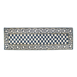 "Mackenzie-Childs Royal Check Rug - 2'6"" x 8' runner"