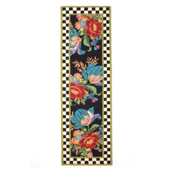 MacKenzie-Childs Flower Market Rug 2.5' X 8' Runner