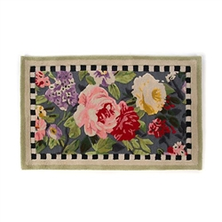 MacKenzie-Childs Tudor Rose Rug - 2.25 Ft. X 3.75 Ft.