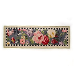MacKenzie-Childs Tudor Rose Rug - 2 Ft. 8 in. X 8 Ft. Runner
