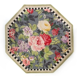 MacKenzie-Childs 6ft Octagon Tudor Rose Rug