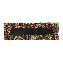 "Mackenzie-Childs Butterfly Garden Rug - 2'6"" x 8' runner"