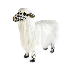 Mackenzie-Childs Courtly Check White Sheep - Large