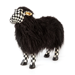 Mackenzie-Childs Courtly Check Black Sheep - Small